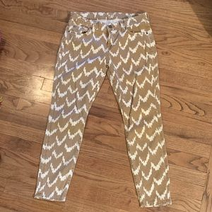 7 For All Mankind Chevron Cropped Pants